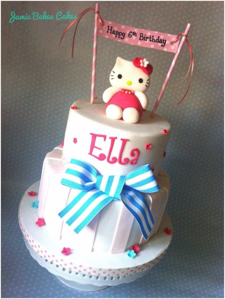 Hello Kitty 2 tier Jamie Bakes Cakes