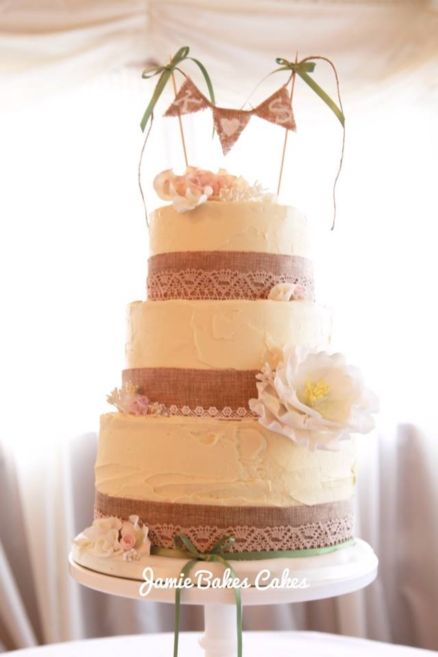 Rustic Country Wedding Cake Jamie Bakes Cakes